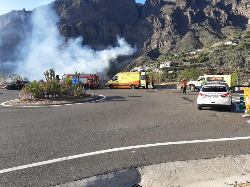 Un millar de personas siguen desalojadas por el incendio de Gran Canaria