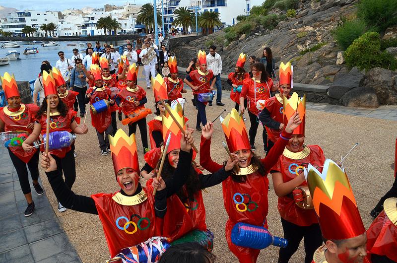 Resultado de imagen de Los desfiles de carnaval de los escolares arrecife